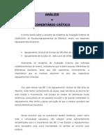 ANÁLISE E COMENTÁRIO CRÍTICO