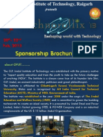 Sponsorship Brochure sample