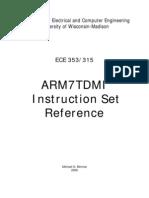 Arm7tdmi Instruction Set Reference