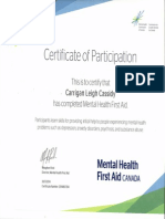 mental first aid certificate