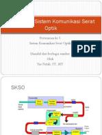 Komponen Sistem Komunikasi Serat Optik