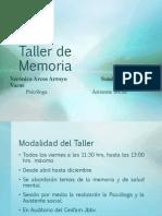 Taller de Memoria 2014.pptx