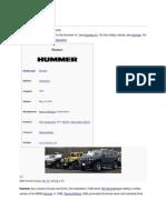 History of Hummer