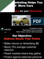 Digital Marketing- Auto Dealers