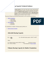 Bearing Capacity Technical Guidance