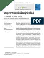 Biodiversity Checklist
