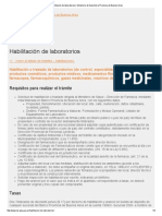 Habilitación de Laboratorios _ Ministerio de Salud de La Provincia de Buenos Aires