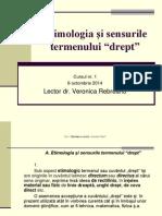 Etimologie-sensuri Drept
