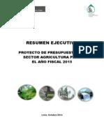Proyecto Presupuesto Agricultura 2015