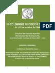 III COLOQUIO FILOSOFÍA SOCIAL