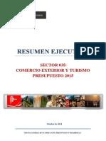Proyecto Presupuesto Mincetur 2015