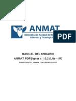 Manual Del Usuario ANMAT PDFSigner v.1.0.2 (Lite)