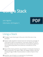 Using a Stack