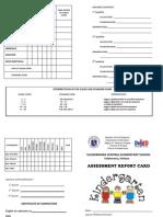 Assessment Card - Kindergarten.doc