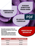 Kekecualian Hukum D-M