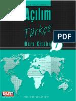 Açılım Türkçe Ders Kitabı 1