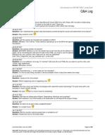 Public QA Log Introduction to ASP.net MVC