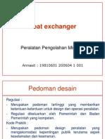 Heat Exchanger - Regulasi