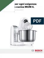 Bosch Ricettario MUM4