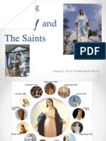 Honoring Mary and the Saints