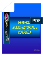 Herencia Multifactorial o Compleja