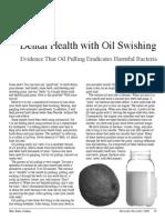 Dental Health Oil Swishing