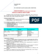 Materiale Restaurative Coronare Clasice, Nefizionomice, Amalgam, Aur Coeziv Si Fizionomice, Cimentul Silicat