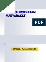 i.konsep Kesehatan Masyarakat