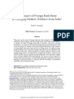 The Impact of Foreign Bank Entry in EME