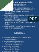 Project Management-An Introduction