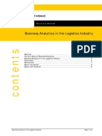 Business Analytics in the Logistics Industry