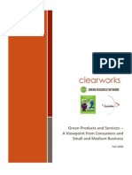 Green Products and Services -A Viewpoint From Consumers and Small