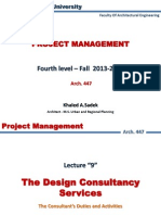 Lect 9 Design Consultency Services Tendering Phase
