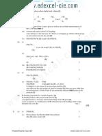 Organic Analysis_IR Spectra Marks Scheme