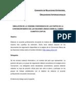 Objetivo simulación COP20