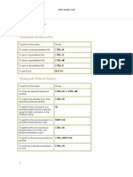 Excel Short Cut Keys