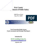 Erie County Pa. Next Generation Radio System  Needs Assessment and Strategic Plan Report