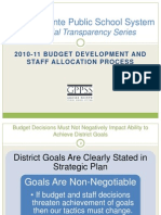 2010-11 GPPSS Staffing and Budgeting Process