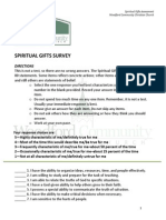 Wccc Spiritual Gifts Survey