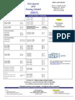 1st Qtr 2010 Schedule