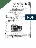 Regole di Musica / Giovanni d'Avella