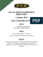 ACS Social Service Resource Directory JAN 2013