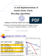 Architectures and Implementations of LDPC Decoding Algorithm