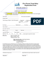 Team Relay Registration Form - Blue Ridge Marathon