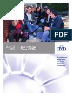 IMD MBA Class Profiles