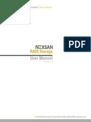 Nexsan RAID Storage User Manual v3 8   Ip Address   Web Browser