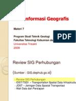 SIG 7 Aplikasi GIS Dephub