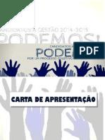 Carta de Apresentação- Chapa Podemos!