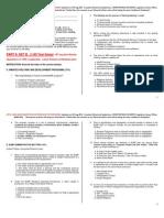 2012 Penology Exam Questionnaire
