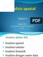 SIG 5 Analisis Spasial